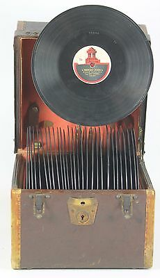 Suitcase For Records In Wood. With Auctions In Copper. Usa. Xix Century.