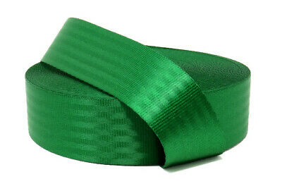 Polyester webbing, Seat belt webbing, 47mm, Green, soft and very strong
