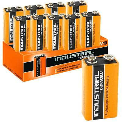 10 DURACELL INDUSTRIAL 9v PP3 MN1604 E-BLOCK ALKALINE BATTERIES PROCELL BATTERY