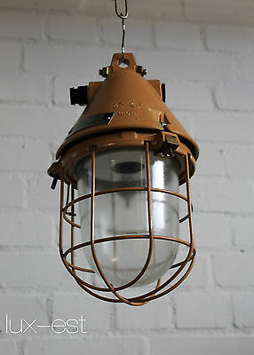 "1of 3 ""THALE S DANGER"" Fabrik Design Bunker Lampe Original Industrial Cage Lamp"