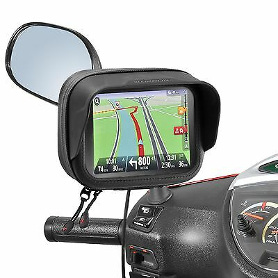 "Waterproof Bag antiglare TomTom Garmin GPS Navis 4.3"" mirror holder Scooter"