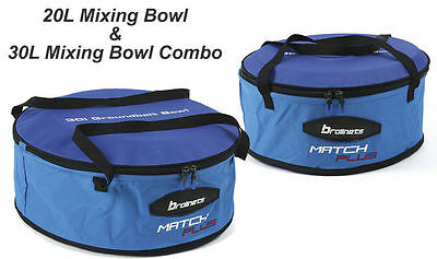Brollnets 20Ltr & 30Ltr Bait Bowl Mixing Bowl Groundbait Bowl Combo (Mlb536)