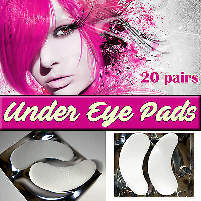20 Pairs Under Eye Lint Free Gel Pads for Eyelash Extensions | UK Lash Patches