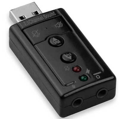 Adapter USB 2.0 Stereo 7.1 Audio Virtual Carte Externe Son Sound pour Pc Laptop