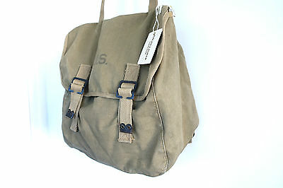 Double RL RRL Ralph Lauren Vintage Collection 1940s WWII USA Army Duck Tank Bag