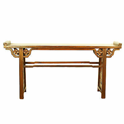 "Chinese Asian Vintage 77"" Long Contemporary Modern Style Altar Sofa Hall Table"