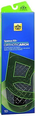 Spenco RX Full Length Orthotic Arch Supports Size 4 1 P