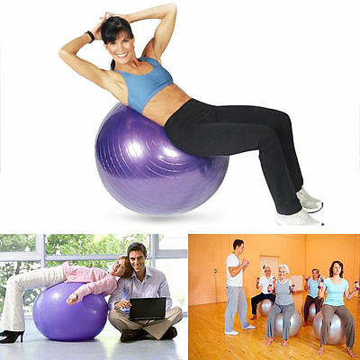 Gym Ball 55cm Exercise Fitness Yoga Core Swiss Anti Burst Pregnancy Workout
