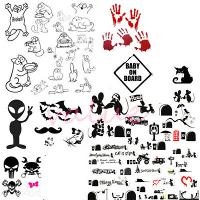 1PCS Vinyl Cute Car Window Wall PC Sticker Bumper Decal Gift Decor 227 Types