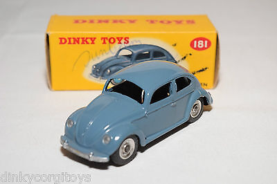 P Dinky Toys 181 Vw Volkswagen Beetle Kafer Raf Blue Spun Mint Boxed Rare Selten