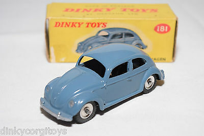 P Dinky Toys 181 Vw Volkswagen Beetle Kafer Blue Spun Mint Boxed Rare Selten