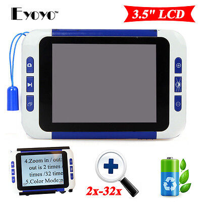 """HFR-805 Portable 3.5"""" LCD 2-32X Magnification Electronic Reading Video Magnifier"""