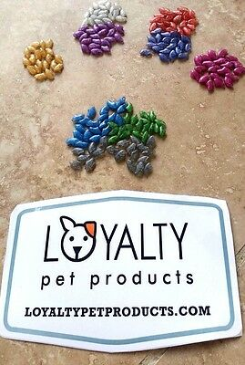 Choose DOGS OR CATS: 100 NEW NON-TOXIC NAIL CAPS Pet Claw Covers Paws USA Seller