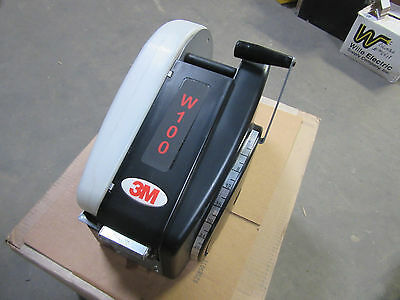 "3M W100 Tape Dispenser Water Activated Takes 3"" Wide Tape Cuts up to 36"" VGC!!"