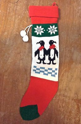 Christmas Stocking Knit Red White Green