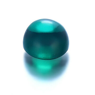 Lab Created Hydrothermal Emerald Green Round Cabochon Loose Stones (4mm - 13mm)