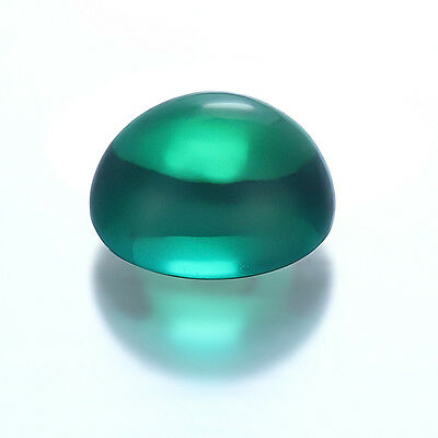 Oval Cabochon Hydrothermal Lab Created Emerald Green Loose stone (6x4 - 18x13mm)