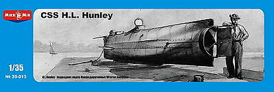 Micro-Mir 35-013 CSS H.L. Hanley, Confederate submarine 1/35 Scale model kit