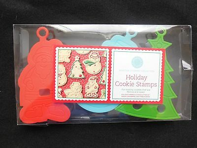 Martha Stewart Collection Holiday Cookie Stamps New, 3 Stamps, Santa, Tree, Snow