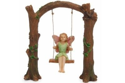 Miniature Dollhouse FAIRY GARDEN - Arch Swing - Accessories