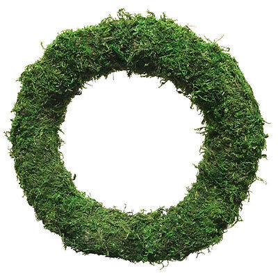 """8"""" 10"""" 12"""" 14"""" Padded Moss Effect Wreath Ring Christmas Decoration Integral Wire"""