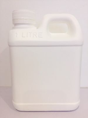 Jerry Can 1Litre with screw lid White- packaging *Australian Seller
