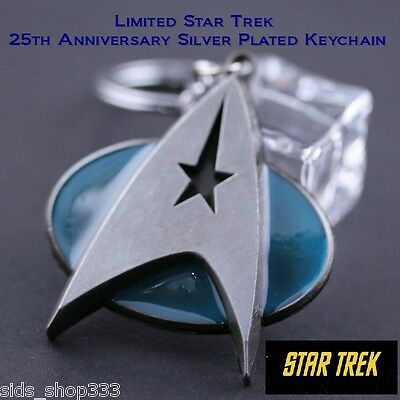 Star Trek Communicator 25th anniversary Key chain Antique silver Plated limited