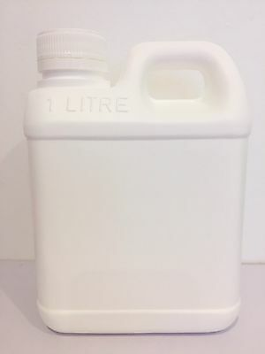 10 x Jerry Can 1Litre with screw lid White- packaging *Australian Seller