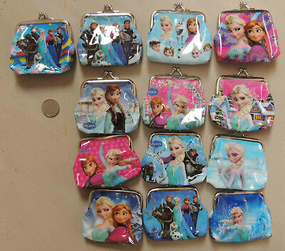 Frozen Anna Elsa Olaf Coin Purse Birthday Party Lolly Bag Treat Box Filler Gift