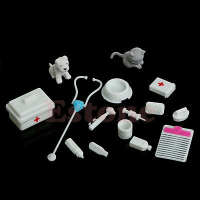 14Pcs New Mini Medical Equipment Toys for Barbie Fashion Doll Accessories White