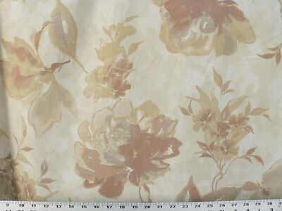 Natural Drapery Upholstery Fabric Cotton Duck Abstract Floral 50K Dbl Rubs