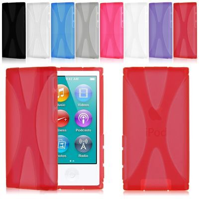 For Apple iPod Nano 7 7th Gen Generation Case TPU X-Shaped Soft Gel Skin Cover