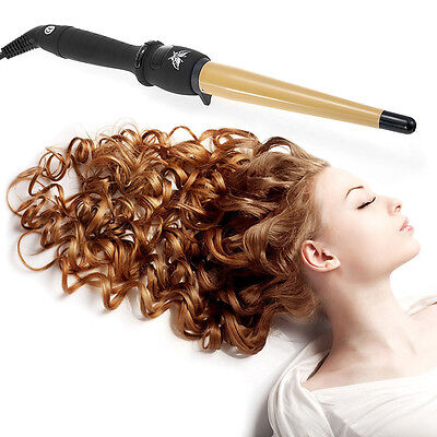 Professional Salon Tapered Hair Hot Ceramic Curling Curler Iron Wave Wand