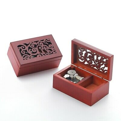 ♫  Fly Me To The Moon  ♫ Rectangle in Black Jewelry Music box