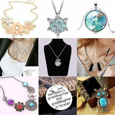Fashion Charm Jewelry Long Chain Pendant Choker Chunky Statement Bib Necklace