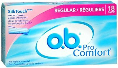 o.b. Pro Comfort Tampons Regular 18 Each (Pack of 5)