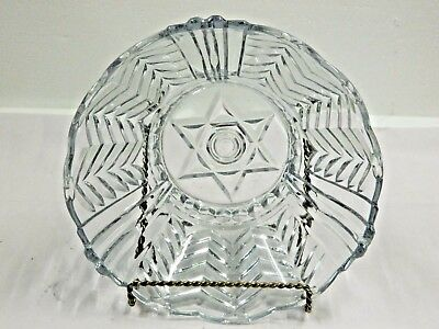 Vintage Pressed Glass  Large  Bowl