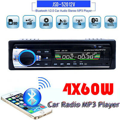 Car Radio Bluetooth Stereo Head Unit MP3/USB/SD/AUX-IN/FM In-dash Player UK 1DIN