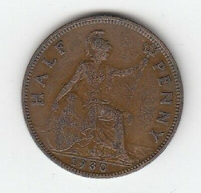 King George V Halfpenny 1911 to 1936 - CHOOSE YOUR DATE!