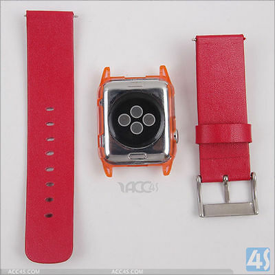 Plastic Case and Replacement PU Strap for Apple Watch 42mm