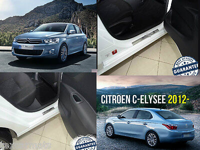 Citroen C-Elysee 2012 -Stainless Steel Door Sill Entry Guard Covers Protectors