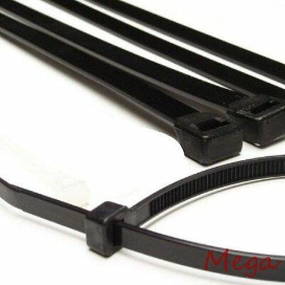 "200 14"" Black Cable Ties Heavy Duty 50lb Industrial Wire Zip Ties Wholesale lot"