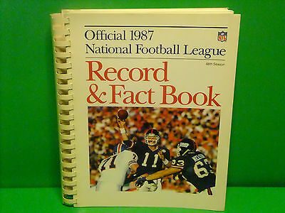 1987 Official National Football League Record and Fact Book-FREE Shipping!