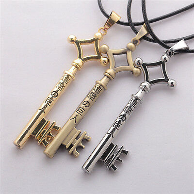 Hot Anime Attack on Titan Eren's Key Necklace Pendant Unisex Chains Jewelry Gift