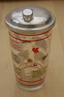 A Genuine Vintage Retro 1950's / 60's Cocktail Shaker With Metal Top