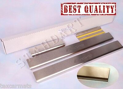 Fiat Bravo 2007- Stainless Steel Door Sill Entry Guard Covers Trim Protectors
