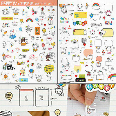 Nice Cute Scrapbook Diary Calendar Planner Decorative Paper Stickers Lovely