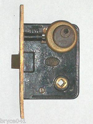 Antique Corbin Entry Lock with Key Cylinder and Eschutcheon