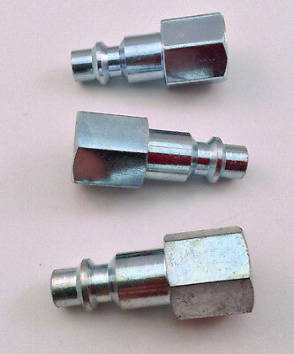 """3pc. Quick Connect 1/4"""" NPT Female Plug M-Style - Air Tool Fitting"""