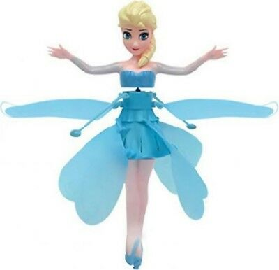 Wireless Flying Fairy Blue Princess Girls Toy Doll Xmas Gift Uk Stock Kids